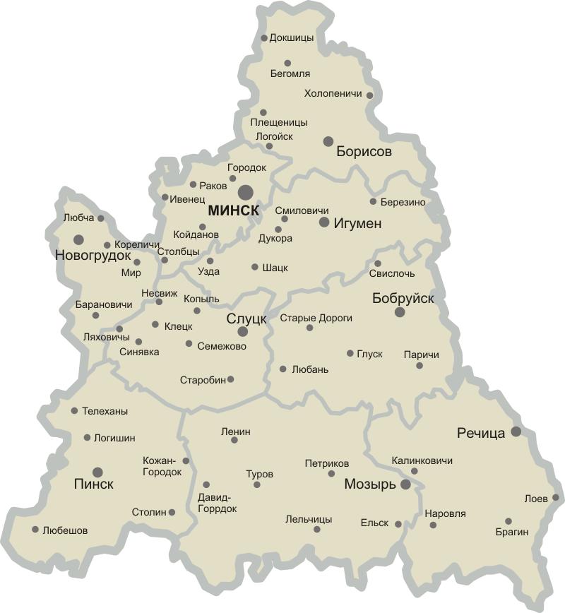 Карта Дисненский Уезд