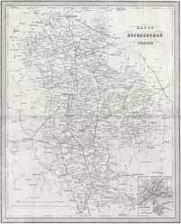 Map of Mogilev guberniya - 1871 year