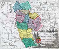 Map of Mogilev namiestnichestvo - 1792