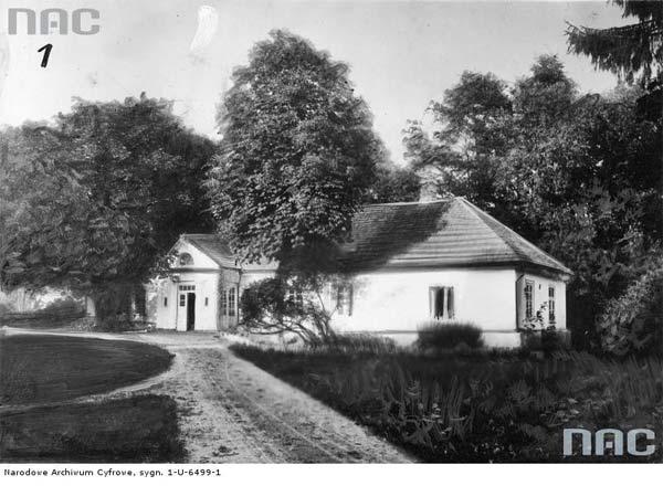 Tuhanowicze k. Nowogródka.<br>Widok zewnętrzny dworu od strony podjazdu.<br>Data wydarzenia: 1910 - 1915