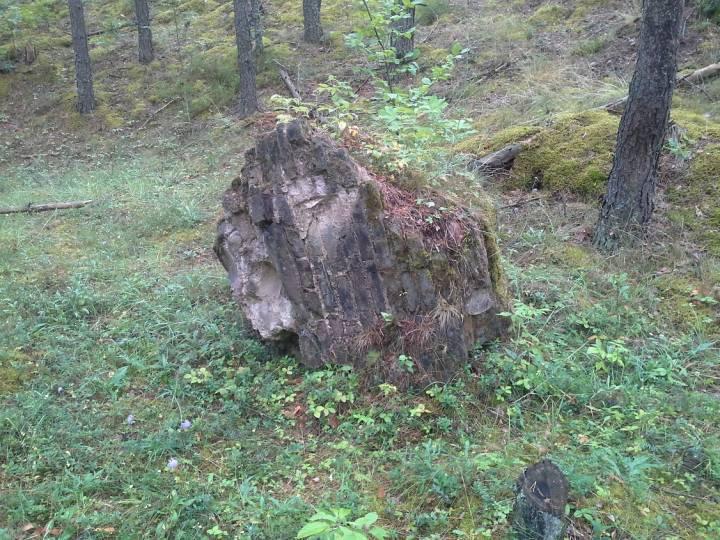 Это то, что осталось от каплицы, которая была разрушена после войны.
