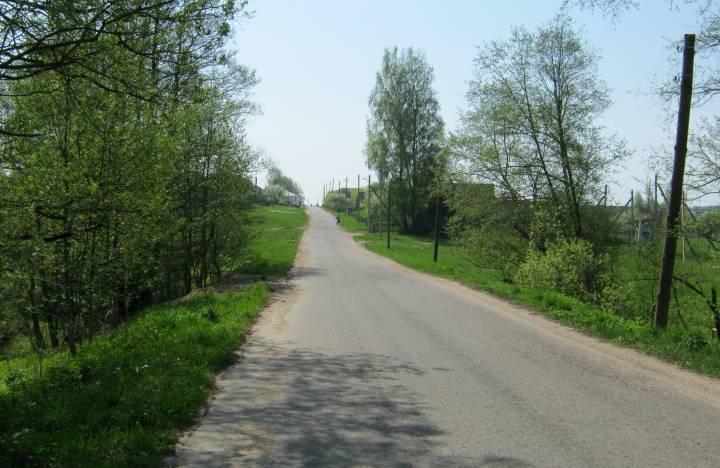 Дарога праходзіла цераз Гайну і ішла на Лагойск.