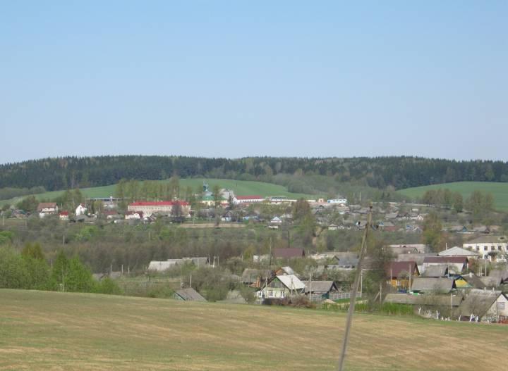 Сяло Гайна. Погляд са старажытнага селішча, з якога пачалася Гайна...