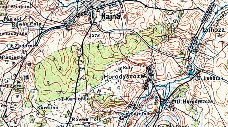 Здымак са старой польскай карты, стан да 1914 года...
