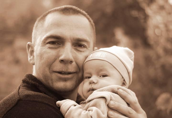 Kolejne pokolenie poleszuków:Artur Grudkowski z synem Dominikiem.