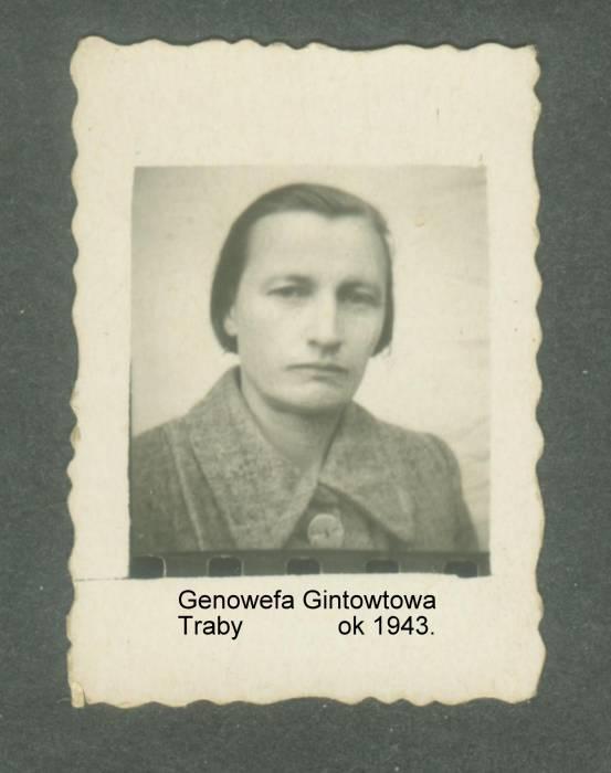 Właścicielka Zaścianka Bryniuki w czasie II Wojny Światowej.