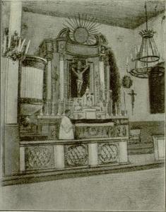 Вероято, на фото настоятель костела в Остроглядах Юлиан Лавринович; фото из книги Юзафата Жискара
