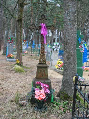Магіла Ваоілія Іванавіча Шаламіцкага на лышчанскіх могілках<br>Фота 03.04.2010