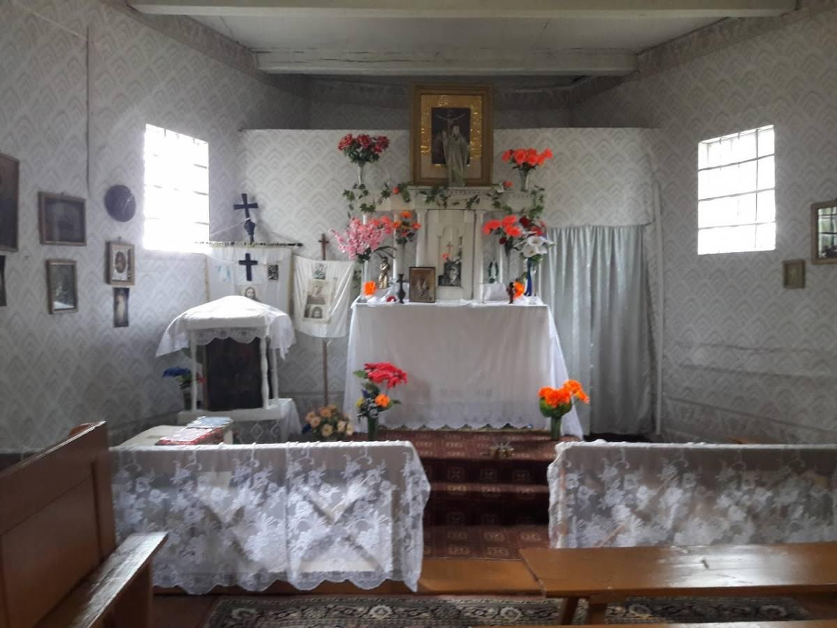 Каплица Воздвижения Святого Креста, XIX в. Кладбище д.Новищино