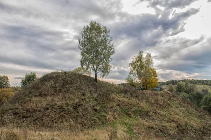 История создания<br><br>В древние времена Радомля была одним из центров поселения племени радимичей. Именно от них произошло и название города. Еще тогда в этом месте существовало укрепленное городище. Позже на его месте возник замок. Произошло это приблизительно в XIII веке. <br>Замок был построен на левом берегу реки Радучь, на месте древнего городища. Площадь городища – 53 на 40 метров. С севера оно было защищено валом высотой около 5 метров и шириной 8 метров у основания. Само городище возвышается над окрестными землями на 15-18 метров.<br>Стены замка были деревянные и выполнены в виде частокола, а также городен. У него было 4 башни, в том числе одна брамная. Кроме этого, был еще тайный выход к реке через скрытую дверь.<br>На территории замка находился колодец, который снабжал обороняющихся водой.<br>Замок был очень массивным и имел большие погреба. По некоторым данным, на его содержание работала вся волость, и половина выращенного пшена отдавалось гарнизону замка, на случай его осады.<br>При обороне замка использовалась артиллерия.<br><br>Радомль находился недалеко от земель Русского царства. Поэтому практически ни одна крупная война не обошла его стороной.<br><br>Большие разрушения замок пережил во время осады 1535 года, а во время Ливонской войны он трижды горел.<br>Во время «кровавого потопа» в 1654-1657 годах в замке формировался казачий полк Константина Поклонского.<br><br>Интересно, что о боевых действиях вокруг замка во время этой войны никаких сведений нет. Но после этого он перестал упоминаться в исторических летописях.<br><br>Замок был разрушен во время военных действий 1654-1660 годов. Но достоверно неизвестно.<br><br>Сейчас сохранилось древнее городище радимичей, на территории которого размещался замок, и сегодня возвышается над всеми окрестностями. Хотя со времен существования замка оно явно уменьшилось в размерах. Сегодня на нем растут деревья.<br><br>Есть легенда, что в самом начале на месте замкового колодца стояла церковь. Но позже она ушла под