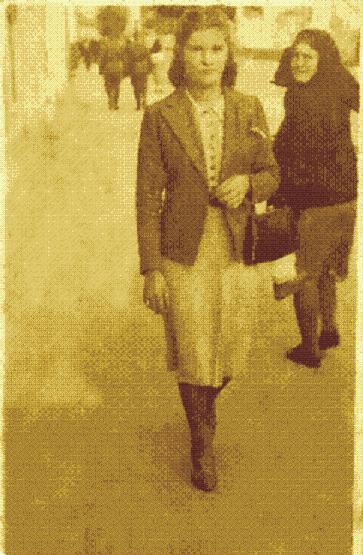 Pińsk.ul.Kościuszki,rok 1943.Na fot.Katarzyna Bogdaniec /ur.w 1916r we wsi Łunin/