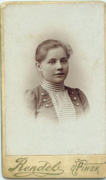 Piotrowska-siostra Kazimierza- mieszkająca w Pińsku.fot. z ok 1905r