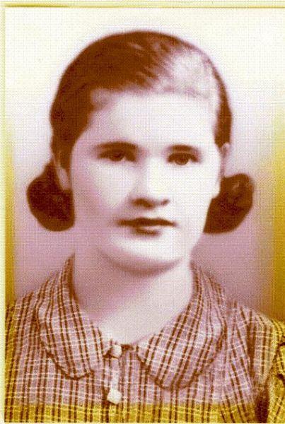 Pińsk 1937r. Katarzyna Bogdaniec ur. w 1916r w Łuninie