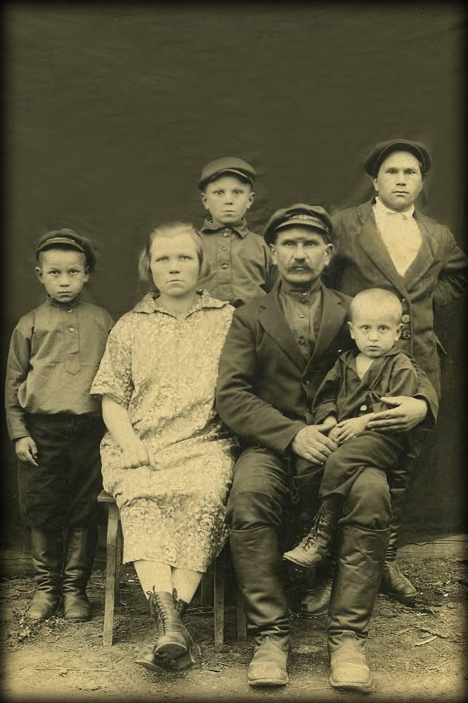 Гаврил и Ульяна с детьми Степан Иван Афанасий и ?