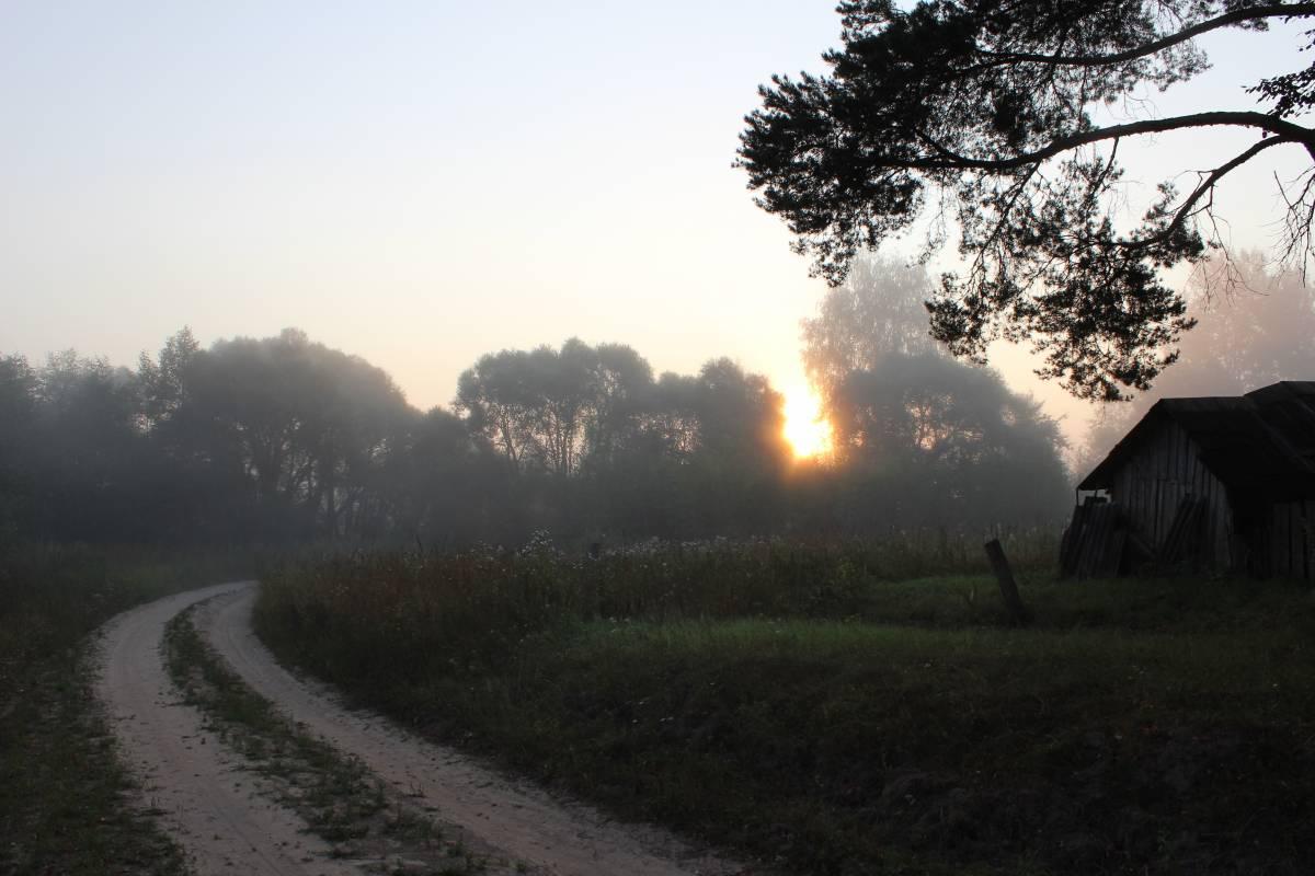 Главная дорога -  въезд в деревню.