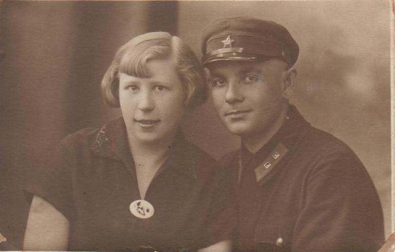 Мои бабушка и дедушка - Зинаида Ивановна и Иван Филимонович Голубевы, г.Витебск