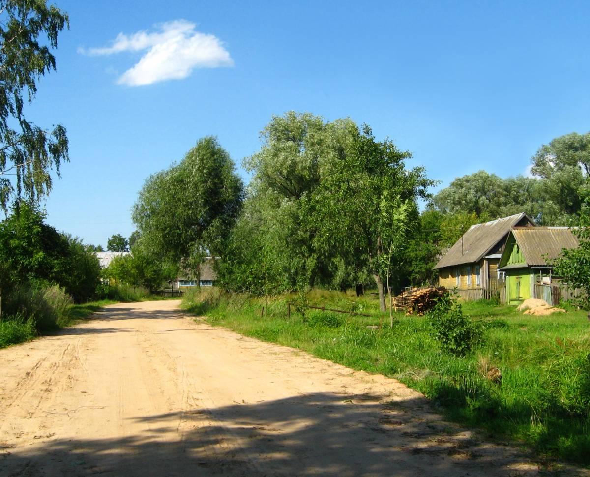 В деревне.