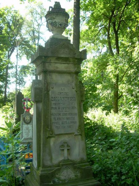 Zadarnowski Antoni - nagrobek, cmentarz w Kobryniu