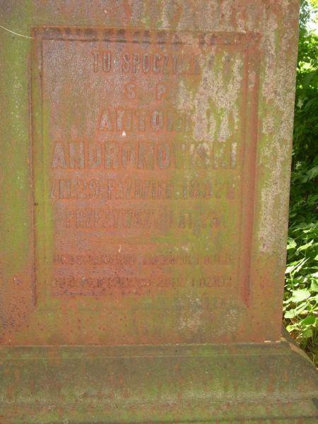 Andronowski Antoni - napis na nagrobku, cmentarz w Kobryniu