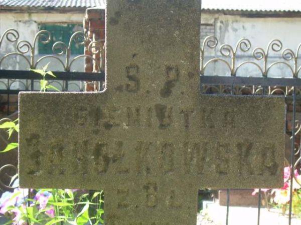 Jahołkowska Gieniutka, żyła 6 lat, napis, cmentarz w Kobryniu