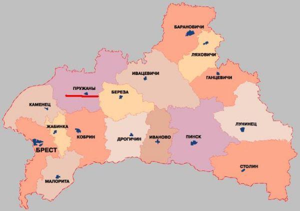 Prużana (biał Пружаны, Prużany, ros. Пружаны) – miasto na Białorusi w obwodzie brzeskim liczące 25 tys. mieszkańców (1999).<br>Po raz pierwszy wzmiankowane w 1487 roku pod nazwą Dobuczyn, stanowiło część Wielkiego Księstwa Litewskiego, województwa brzesko-litewskiego.