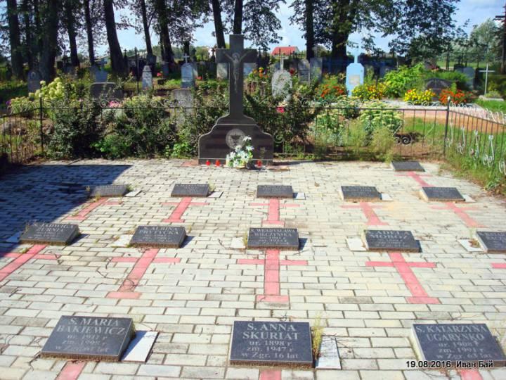 Захоронение на католическом кладбище