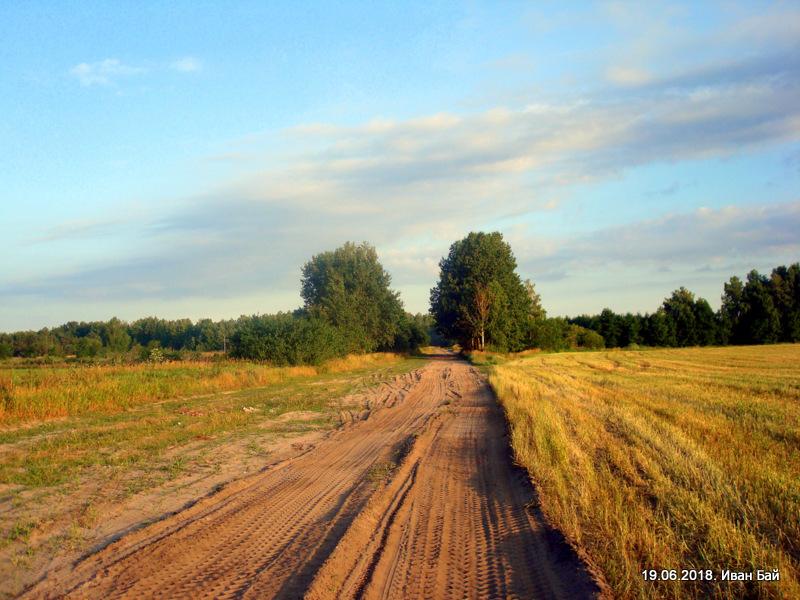 Дорога к церкви от деревни