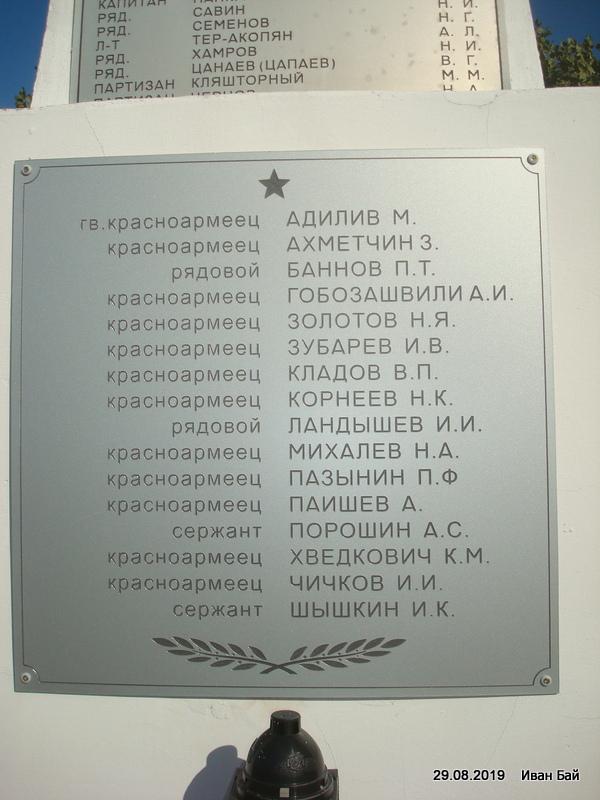 Имена погибших