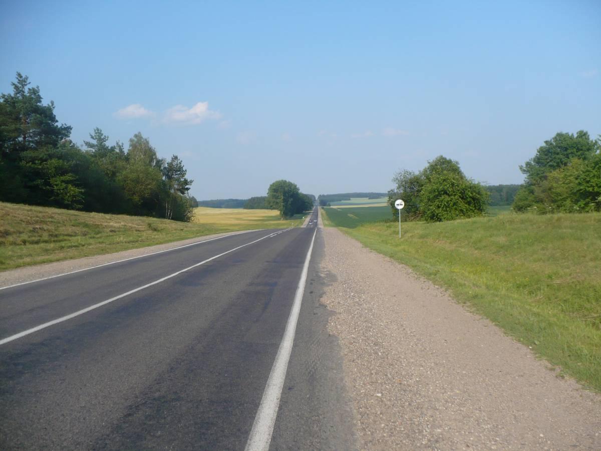 Droga ze wsi Tucza w kierunku Klecka