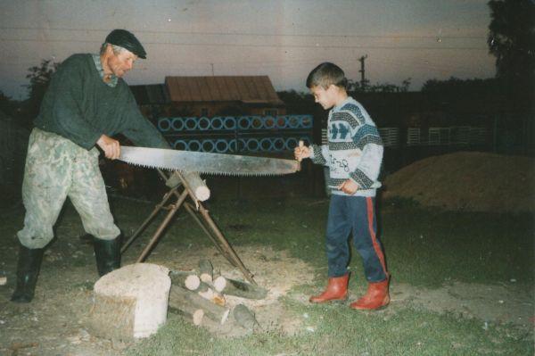 Романюк Станислав Игнатович <br>(д.Ковака 21.06.1941- 06.10.2006 с.Селезнево)<br>и его внук.