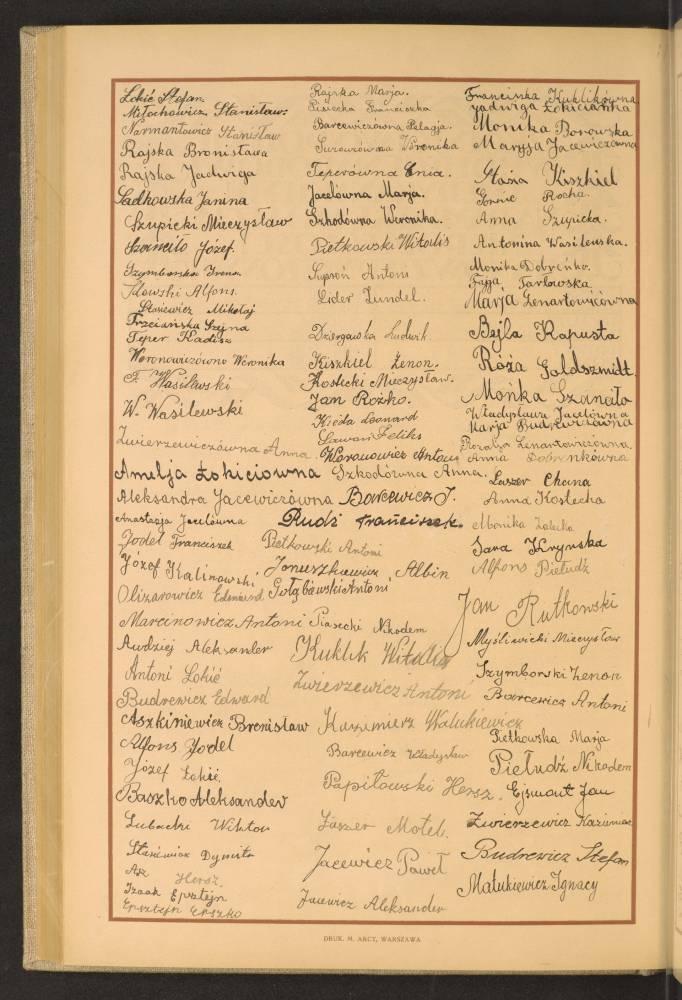 Автографы учеников Одельской школы в 1926 году