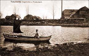 1916 год. Нямецкая паштоўка<br>Надпіс: Sagemule u. Prudezbach