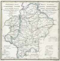 General map of Grodno Governorate and Białystock oblast, 1820 year